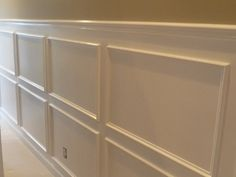 Great directions on figuring our proper size and placement of wainscotting molding.