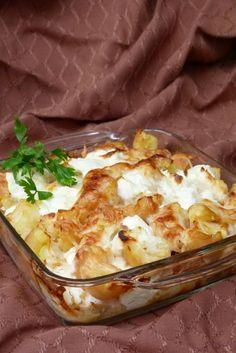 Sajtos krumpli Hungarian Recipes, Main Meals, Potato Recipes, Lasagna, Macaroni And Cheese, Side Dishes, Recipies, Healthy Living, Food And Drink