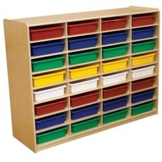 Storage Unit with 3 32 Letter Trays Low Price