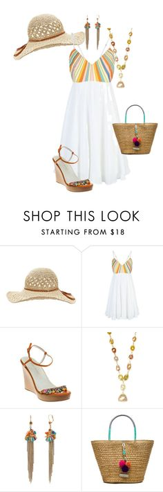"""""""Untitled #876"""" by pholtond on Polyvore featuring Pippa, Mara Hoffman, NSR Nina Runsdorf, Betsey Johnson and Caffé"""