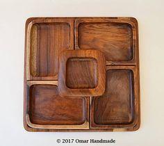 Omar_Handmade / Tácka drevená štvoruholník