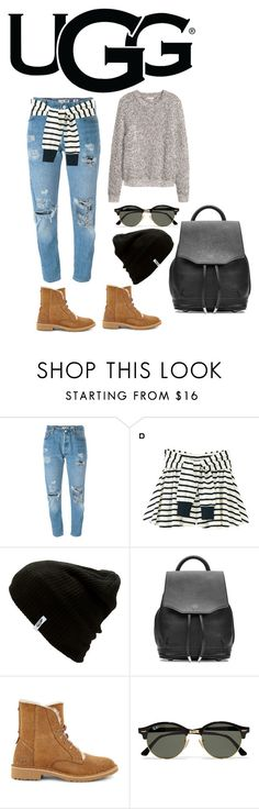 """The New Classics With UGG: Contest Entry"" by kenndee ❤ liked on Polyvore featuring UGG, Levi's, RyuRyu, Vans, rag & bone, Ray-Ban, H&M and ugg"