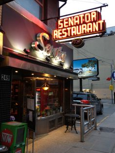 The Senator Diner - One of Toronto's oldest eateries - An excellent stop for a hearty breakfast to start your day of touring!