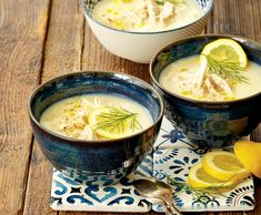 Řecká polévka avgolemono Fondue, Ramen, Food And Drink, Cheese, Ethnic Recipes