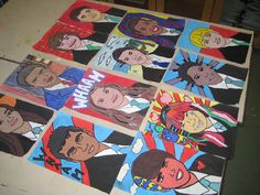 Year 9 Pop Art Self Portraits.  Animated gifs are really simple using gifninja.com and just uploading photographs taken in quick succession.