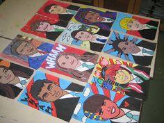 Student Artwork: Year 9 Pop Art Self Portraits