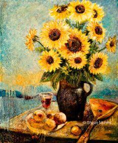 """Sunflover"" oil on canvas 2013 © Shijun Munns Spiritual Garden, Spring Art, Still Life, Oil On Canvas, Original Art, Wall Art, Exhibit, Gallery, Artwork"