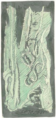 E. Besozzi pitt. s.d. (1959) Composizione china e acquerello su cartoncino cm. 9,8x4,5 arc. 635
