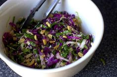 Spinach, Cabbage, and Lime Slaw (use the dressing from the Fat Flush cookbook cabbage slaw!)