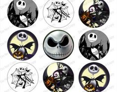 Free Printable Bottle Cap Designs | Nightmare Before Christmas jack 1- inch Round Bottle Cap Images 4 x 6 ...