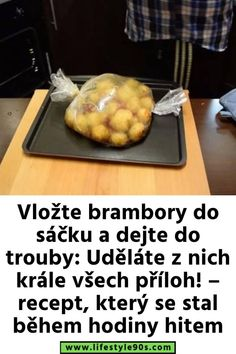 Vložte brambory do sáčku a dejte do trouby: Uděláte z nich krále všech příloh! – recept, který se stal během hodiny hitem Gifts For Office, Thing 1, Griddle Pan, Vegetable Recipes, Ham, Food And Drink, Lunch, Dinner, Vegetables