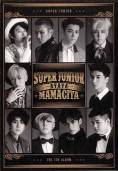 Super Junior MAMACITA 7JIB A Versiyon HQ Poster
