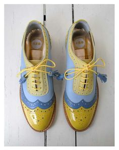 ABO yellow blue brogues #shoes #brogues #mint #shoes #ana_ljubinkovic #aboshoes
