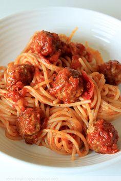 Kinga blogger: Mäsové guličky so špagetami /Spaghetti and meatballs/