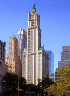 Woolworth Building - NYC, US -1910 - Gothic Revival.