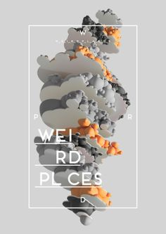 """Weird Places"" Abstract 3D Shapes by Jean-Michel Verbeeck"