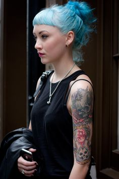 SKINKED – THE TATTOO BLOG » » Gothic tattoo and punk style for Diva – London