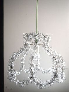 tinsel lamp shade - great for xmas dinner party / kids room