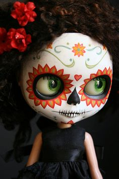Blythe Calavera by Melancholy Kitties - one day I will have one of my very own *swoon*