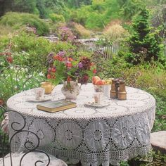 Victoria magazine. tea in the garden.