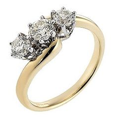 ★★★★★ | 18ct Gold Half Carat Diamond Trilogy Ring // One Reviewer described it as JUST SIMPLY STUNNING. Click Picture to see more