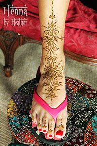 Simple foot henna design - Henna by Heather
