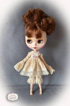 Vintage set for Blythe. for Blythe/Pullip  dolls clothes.Dress
