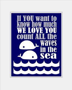 Baby Boy Nautical Nursery Art Print - Boy Whale Nursery Art - Under the Sea Nursery - Whale Bedroom. Grey and Blue Nursery Choose size  SP900