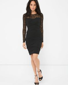 Lace Instantly Slimming Dress