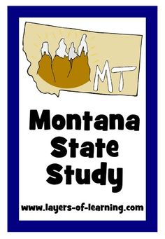 Montana State Study With A Printable Map
