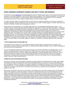 Social Media Guide - How LinkedIn Company Pages Can Help Your Job Search (Page 1)