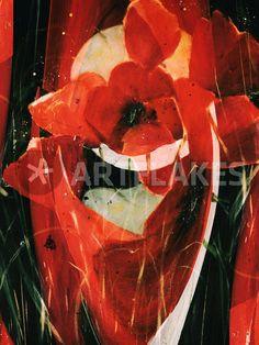 """""""Roter Mohn - Abstrakt"""" Malerei als Poster und Kunstdruck von Chris Berger bestellen. - ARTFLAKES.COM"""