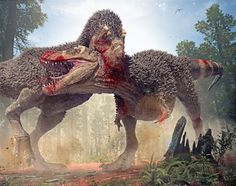"""When the T. rex set out to find a mate, he knew there would be risk of walking into another male's backyard. A """"Rip and Tear"""" is coming along with the new Tyrannosaurus Rex 2 model. The pack contai..."""