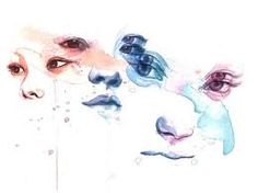 Image result for crying eyes painting