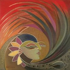WOMAN-amp-NATURE-India-Fine-Art-Oil-Painting-by-Novica