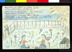 A touching drawing by Zuzana Hojtas who was a child interned at Terezin. Selected by Lisa, marketing manager.