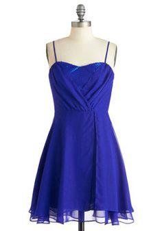 $54.99 Evening Glamour Dress in Cobalt, #ModCloth