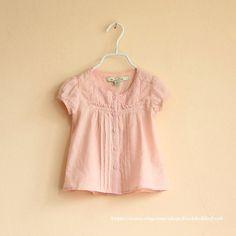 Baby Girls Clothes  Ivory Short Sleeved Shirt by RockRollRefresh, $28.00