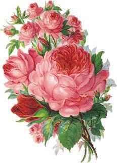 Glanzbilder - Victorian Die Cut - Victorian Scrap - Tube Victorienne - Glansbilleder - Plaatjes : Rosenstrauß - bouquet of roses - bouquet de roses - Glanzbild - Victorian Die cut - tube victorienne