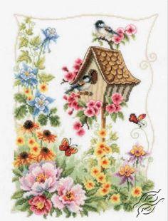 Summer Nesting Box - Cross Stitch Kits by VERVACO - PN-0145026
