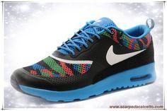 scarpe da ginnastica Nike Air Max Thea Print 599408-014D Bianco / Nero Moon / Verde / Blu / Giallo Uomo