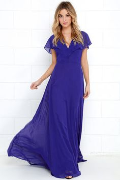 One look at the Elegant Arrival Royal Blue Maxi Dress and you can't help but fall head over heels! Chiffon dress has fluttering short sleeves, open back, and maxi skirt. Evening Outfits, Evening Dresses, Hawaii Outfits, Blue Maxi, Chiffon Dress, Royal Blue, Bodice, Short Sleeves, Elegant
