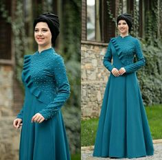 Gam Abaya Fashion, Muslim Fashion, Fashion Dresses, Indian Designer Outfits, Designer Dresses, Hijab Style Dress, Indian Gowns Dresses, Abaya Designs, Muslim Dress