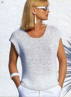 62 Ideas knitting patterns pullover summer tops for 2019 Sweater Knitting Patterns, Knitting Designs, Crochet Patterns, Knitting Projects, Crochet Shirt, Crochet Top, Summer Knitting, Free Knitting, Knit Fashion