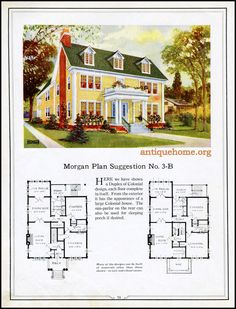 Morgan House Plan Suggestions::Building with Assurance The Sims, Sims 4, European House Plans, Vintage House Plans, Vintage Homes, Vintage Architecture, Architecture Details, Building Plans, Building A House