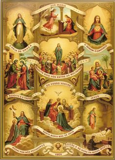 Ave Maria ~ Hail Mary The Lord is with thee Catholic Prayers, Catholic Art, Catholic Saints, Roman Catholic, Religious Pictures, Religious Icons, Religious Art, Blessed Mother Mary, Blessed Virgin Mary
