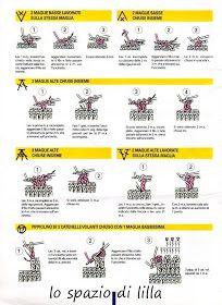 lo spazio di lilla: Scuola di uncinetto: come iniziare e punti base Knitting, Diy, Ganchillo, Tejidos, Tricot, Bricolage, Breien, Knitting And Crocheting, Crochet