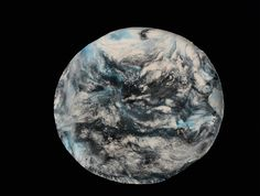 Cloudy Earth Wall Piece