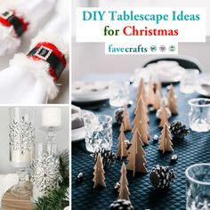 50+ DIY Tablescape Ideas for Christmas Christmas Table Centerpieces, Homemade Christmas Decorations, Christmas Tablescapes, Holiday Tables, Christmas Arts And Crafts, Simple Christmas, Christmas Diy, Christmas Wreaths, Christmas Coasters