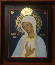 #Santísima Virgen María del Buen Amor por Soledad Malbrán Religious Images, Religious Icons, Religious Art, Byzantine Icons, Byzantine Art, Blessed Mother Mary, Blessed Virgin Mary, Picture Icon, Church Banners